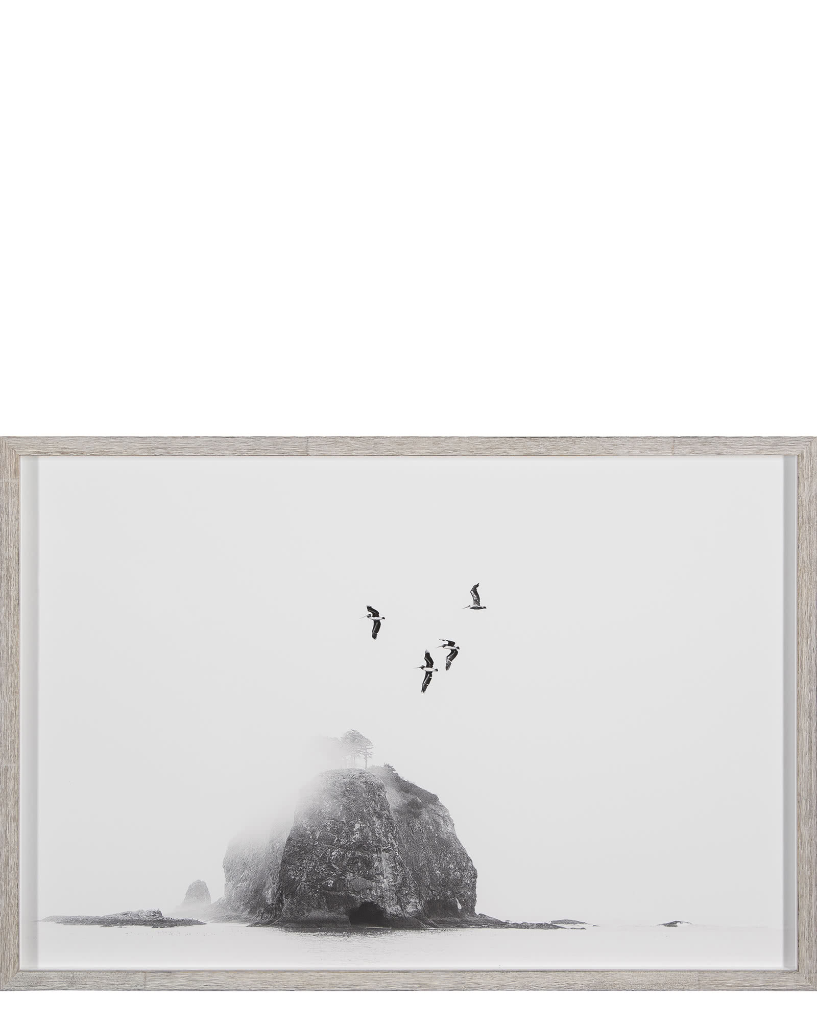 """Birds Over Sea Stack"" by Kyle Goldie"
