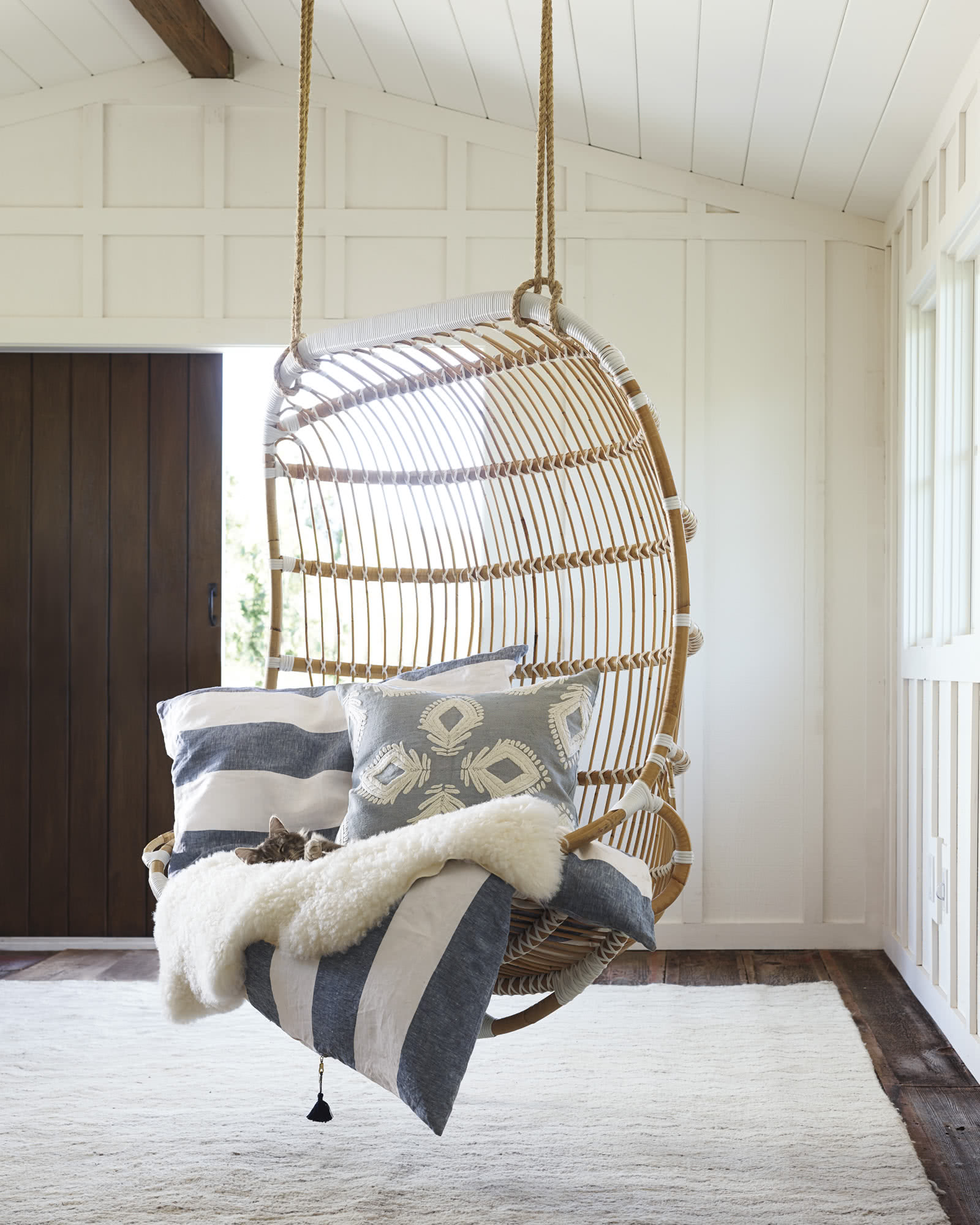 Double Hanging Rattan Chair Chairs