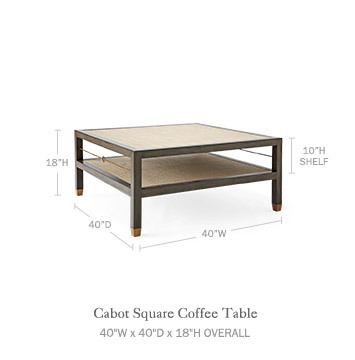 Dimensions. Cabot Square Coffee Table   Serena   Lily