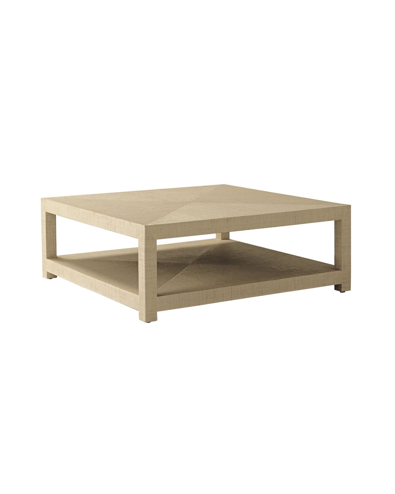 Blake Raffia Square Coffee Table