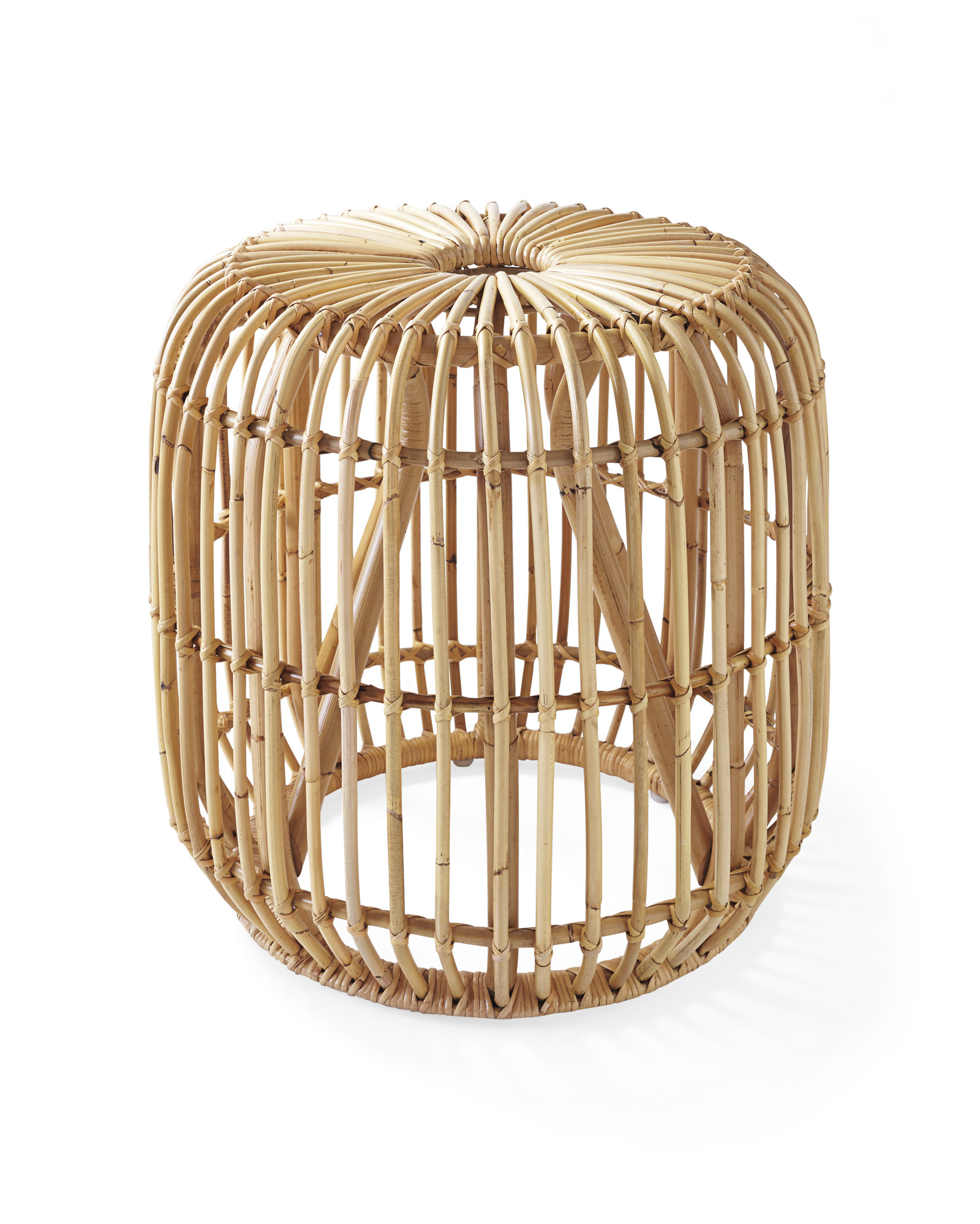 Marvelous Pismo Rattan Side Table