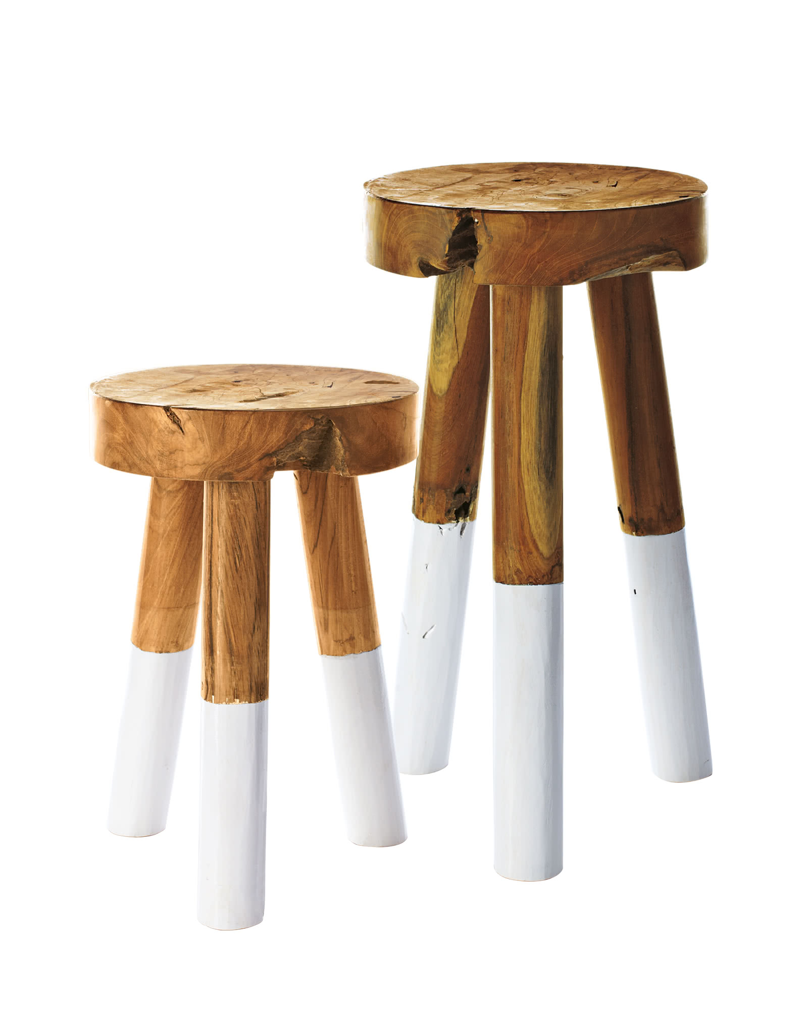 dip dyed stools serena lily. Black Bedroom Furniture Sets. Home Design Ideas