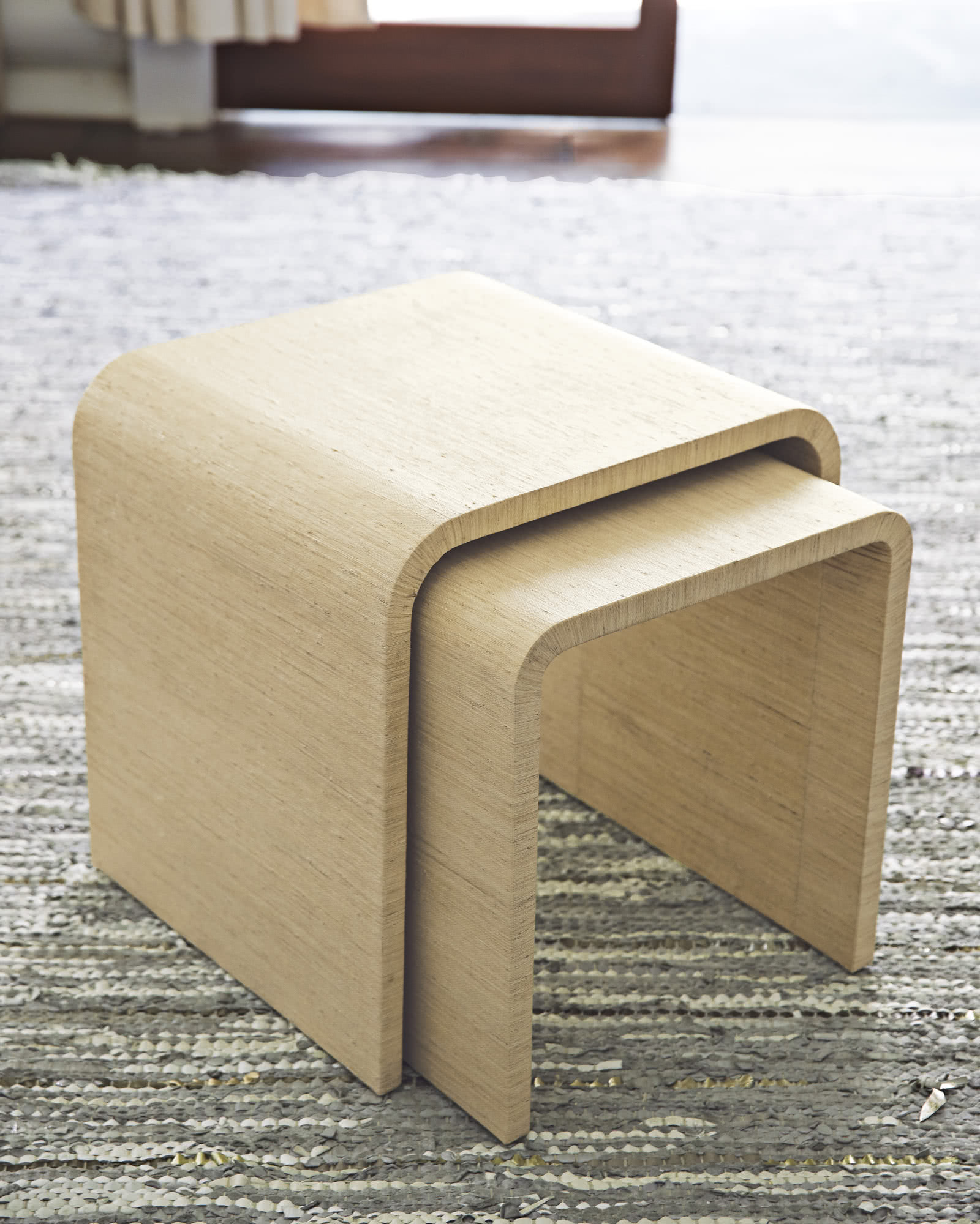 Bartlett Raffia Nesting Tables