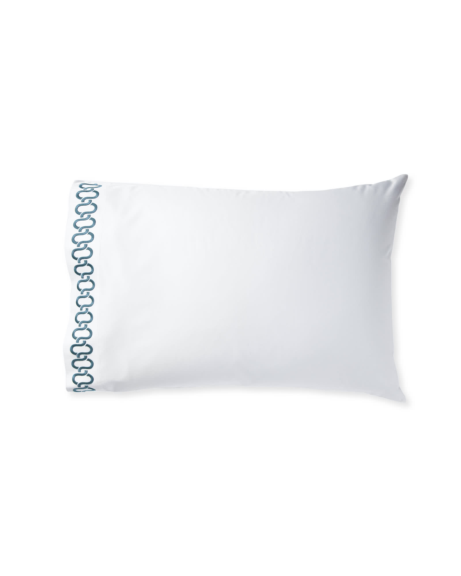 Extra Savoy Links Embroidered Pillowcases (Set of 2) - Marine