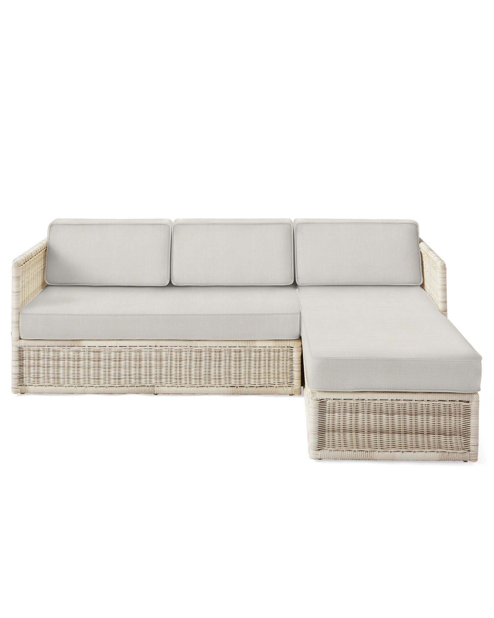 Cushion Cover for Pacifica Chaise Sectional, Perennials Basketweave Chalk