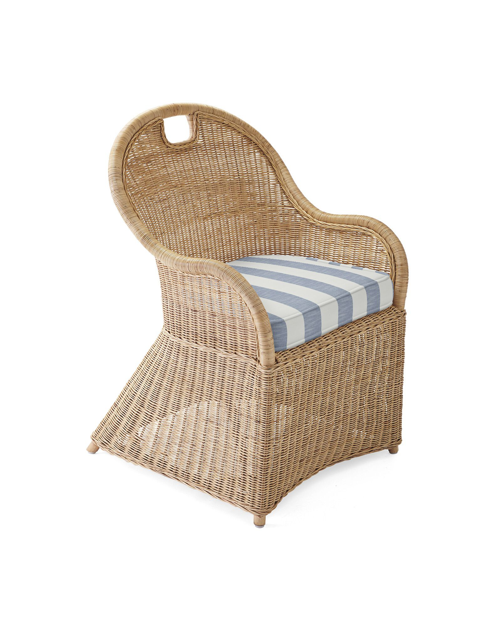 Cushion Cover for Shore Dining Chair & Counter Stool, Beach Stripe Navy