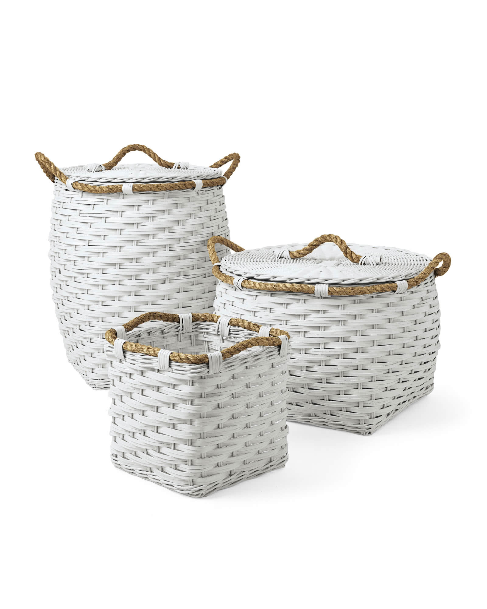 Rope Baskets - White,