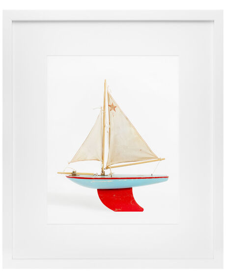 """""""Red and Blue Boat"""" by Leslee Mitchell"""