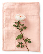Positano Linen Bedding Swatch, Wild Rose