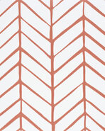 Feather Wallpaper Swatch - Coral,