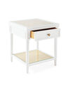 Harbour Cane Nightstand, White