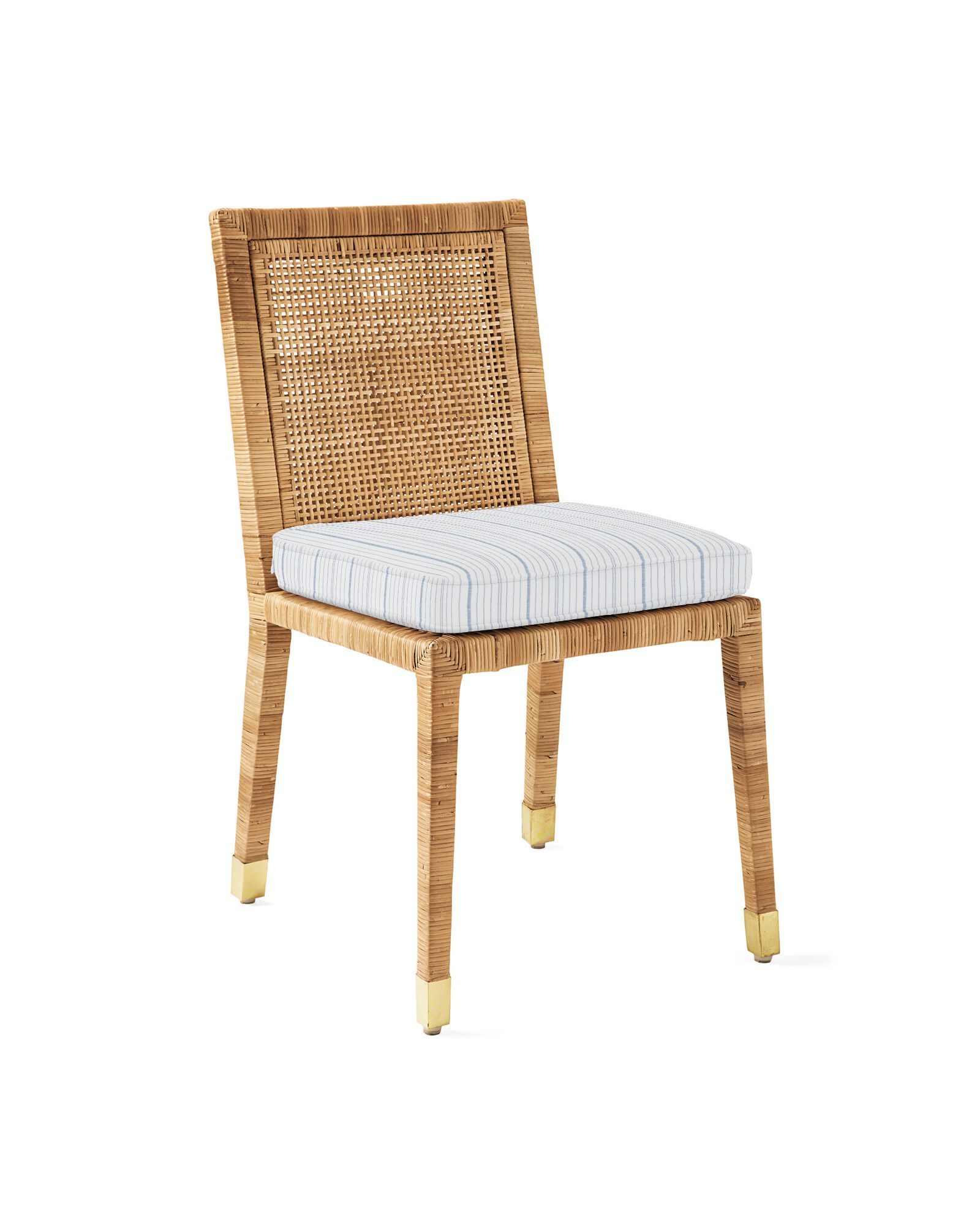 Cushion Cover for Balboa Side Chair - Natural, Surf Stripe Navy
