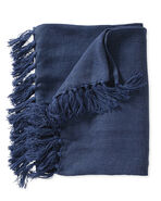 Mendocino Linen Throw, Indigo