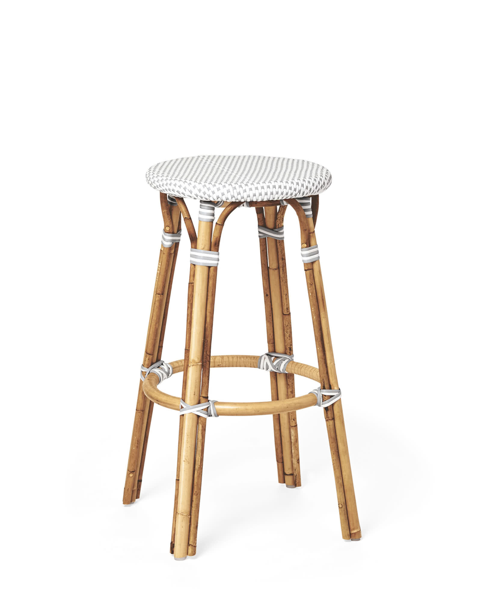 Riviera Backless Bar & Counter Stools, Fog/White