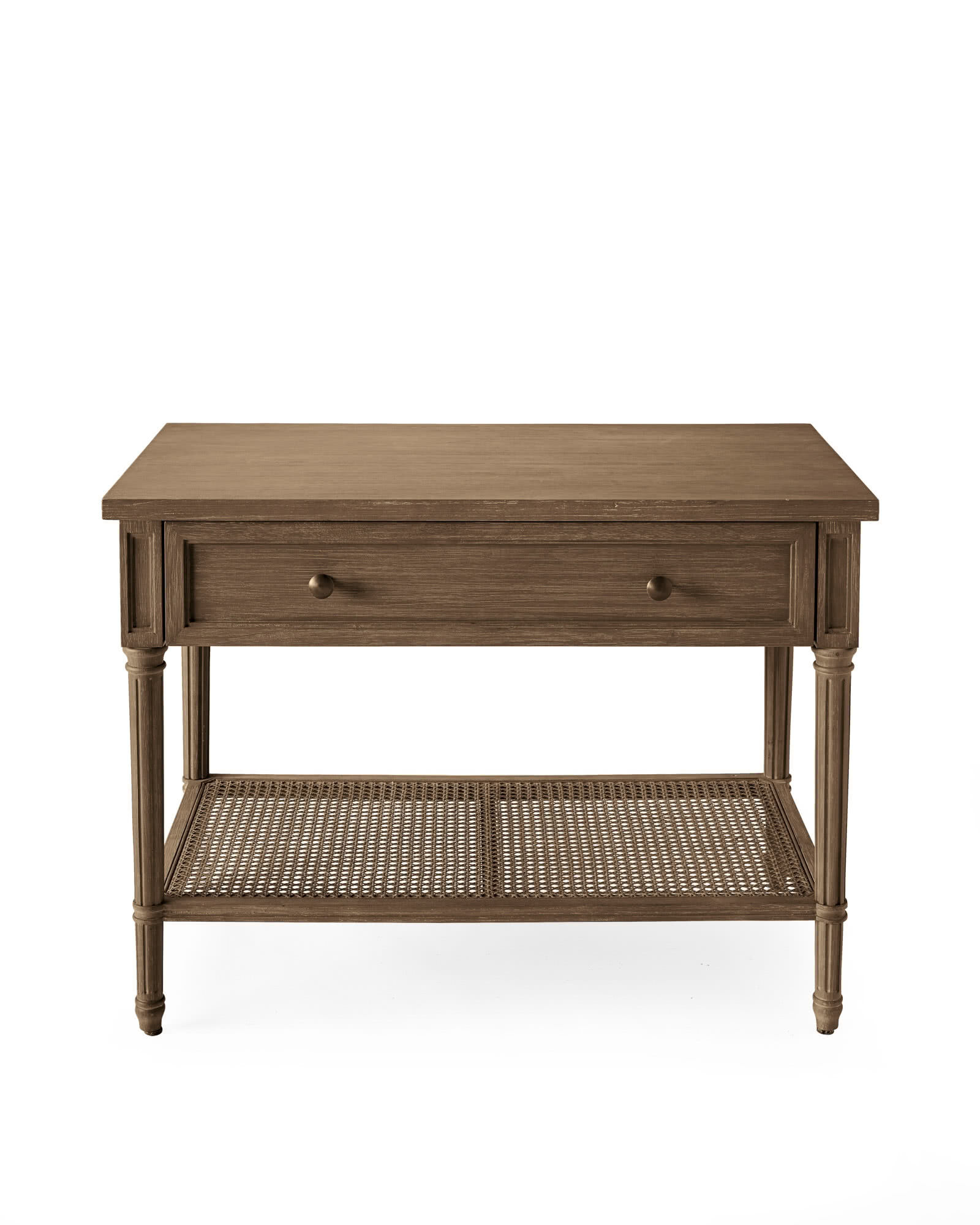 Harbour Cane Wide Nightstand, Natural
