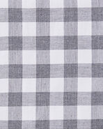 Gingham Sheet Swatch, Smoke