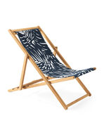Fabric Only - Teak Sling Chair, Palm Navy