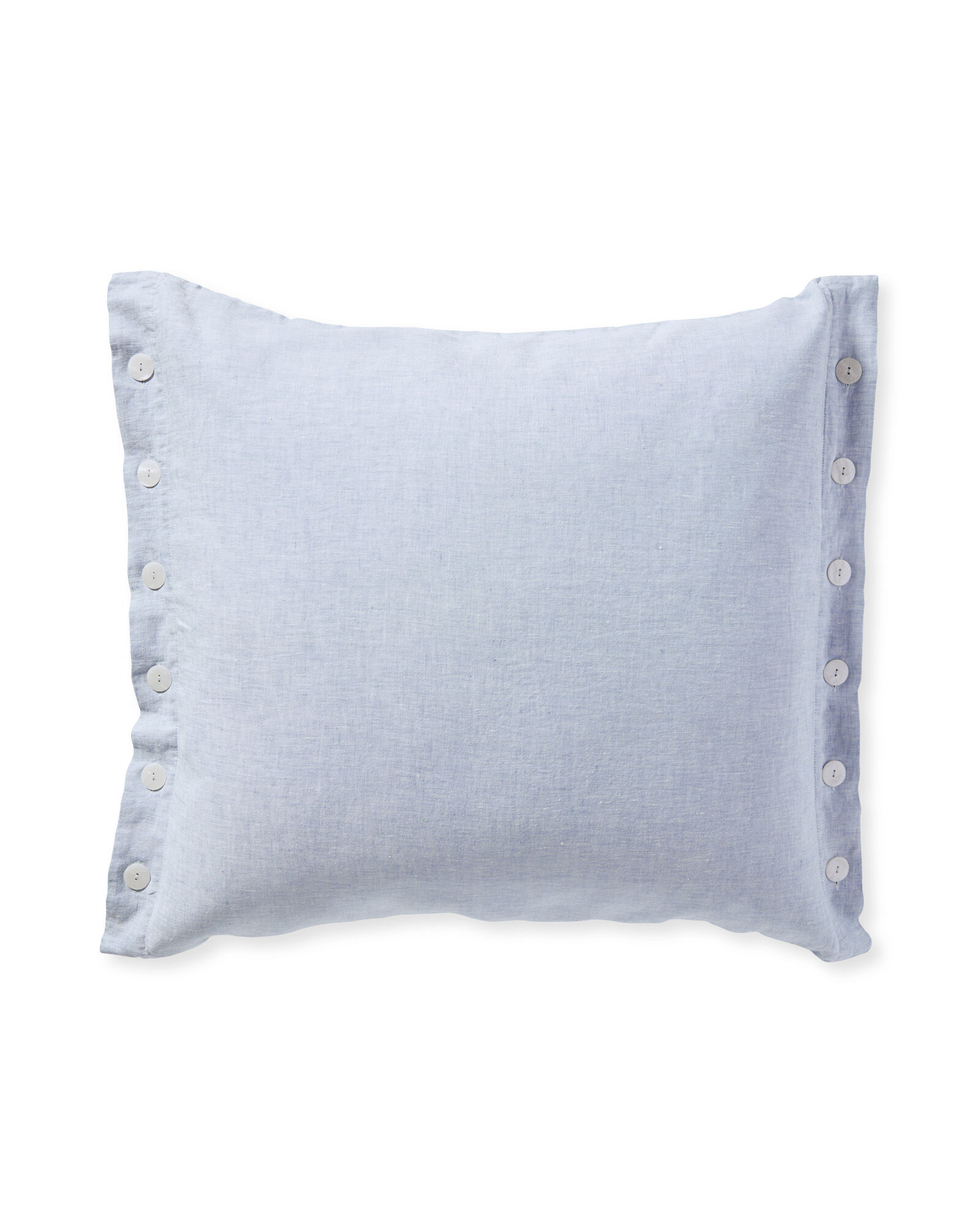 Boothbay Pillow Cover, Blue Chambray