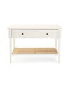 Harbour Cane Wide Nightstand, White