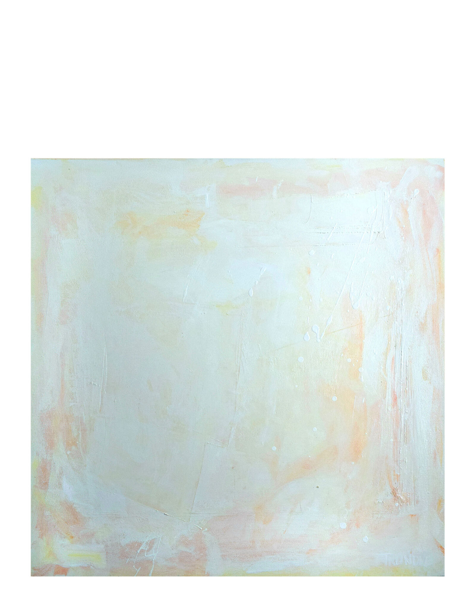 """""""Serenity in Peach"""" by Sarah Trundle,"""