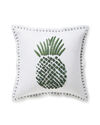 Isla Embroidered Pillow Cover, Moss