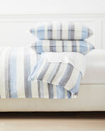 Seabright Linen Duvet Cover, Navy/Chambray