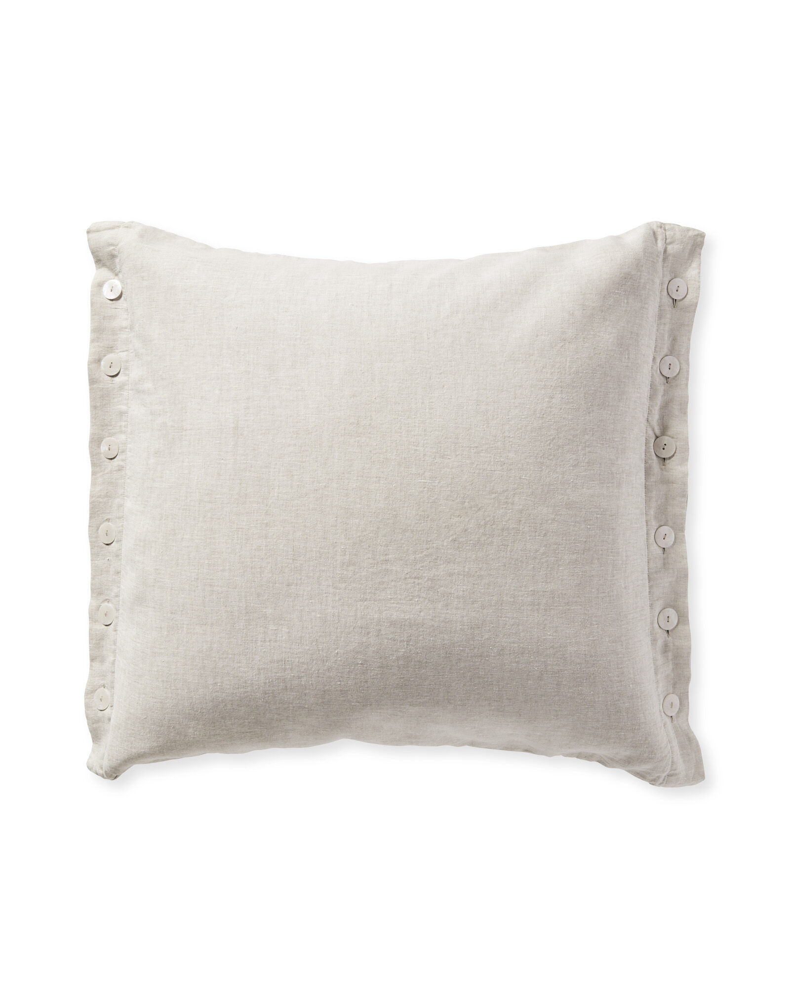Boothbay Pillow Cover, Flax