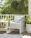 Trestle Outdoor Side Table,