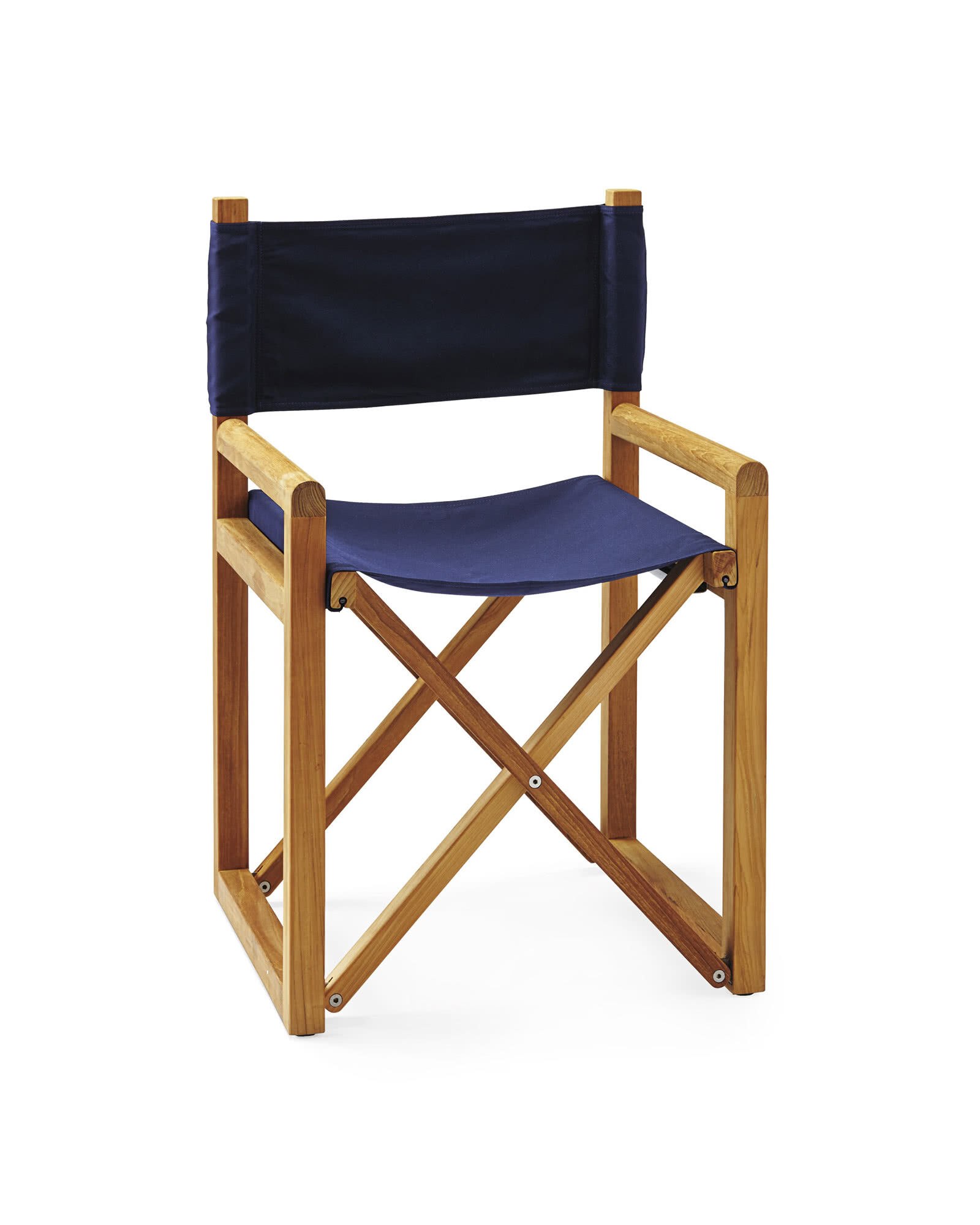 Director's Chair, Solid Canvas Navy