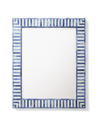 Bar Harbor Bone Inlay Mirror, Blue