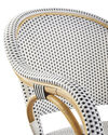 Riviera Armchair, Black/White