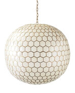 Capiz Honeycomb Chandelier,
