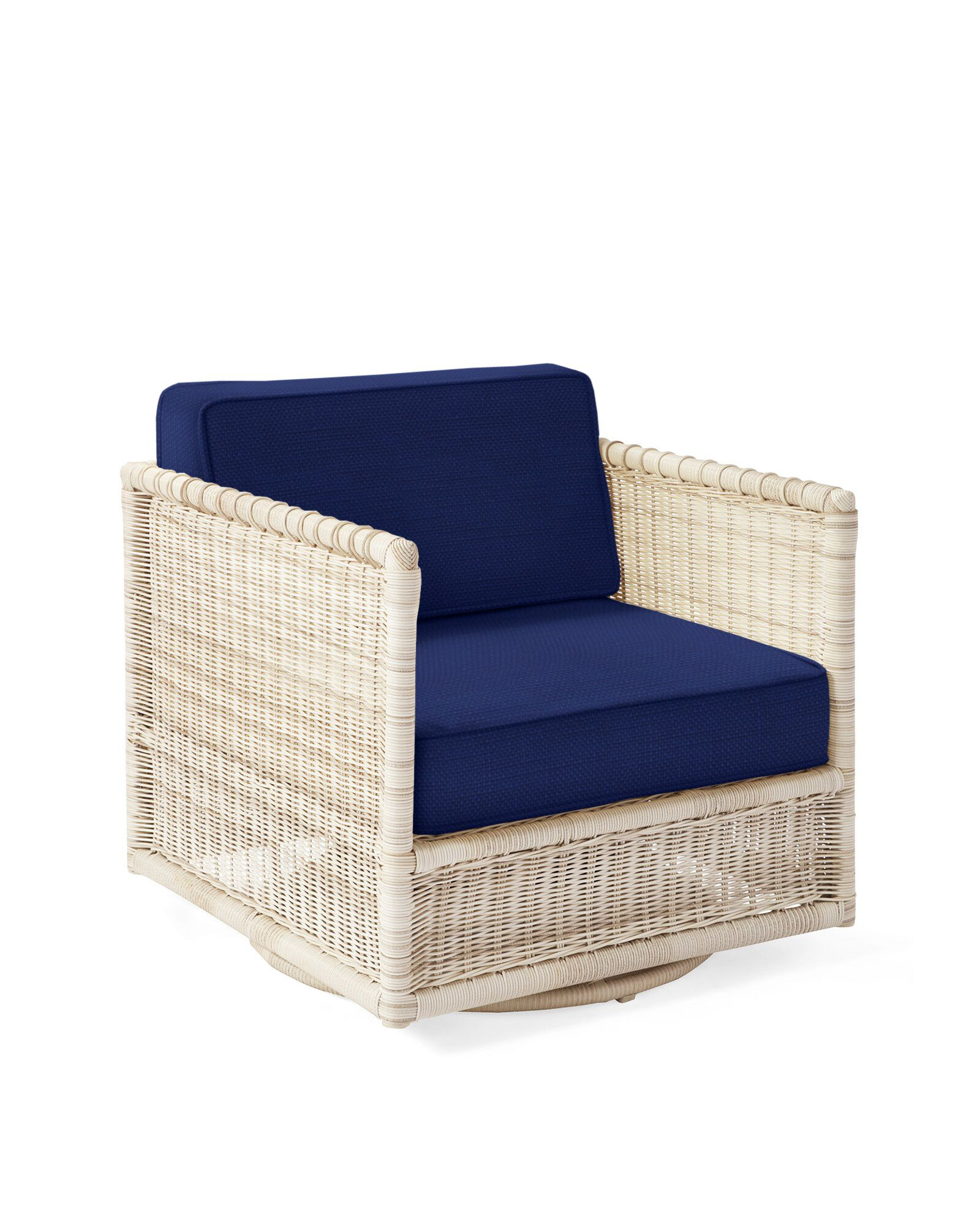 Cushion Cover for Pacifica Swivel Chair, Perennials Basketweave Navy
