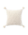Fisherman's Knit Pillow Cover, Ivory