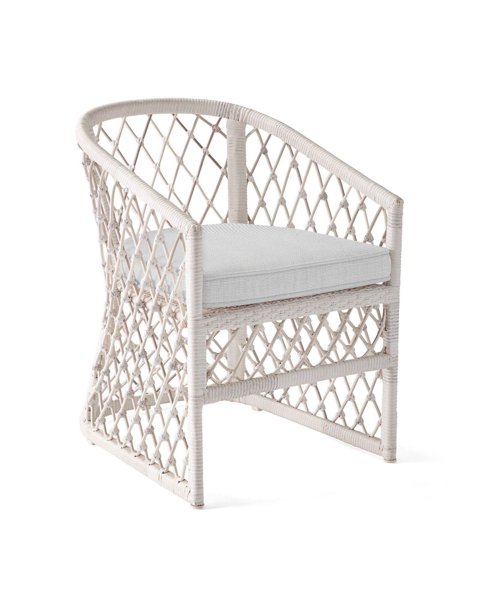 Cushion Cover for Capistrano Dining Chair, Perennials Basketweave Fog