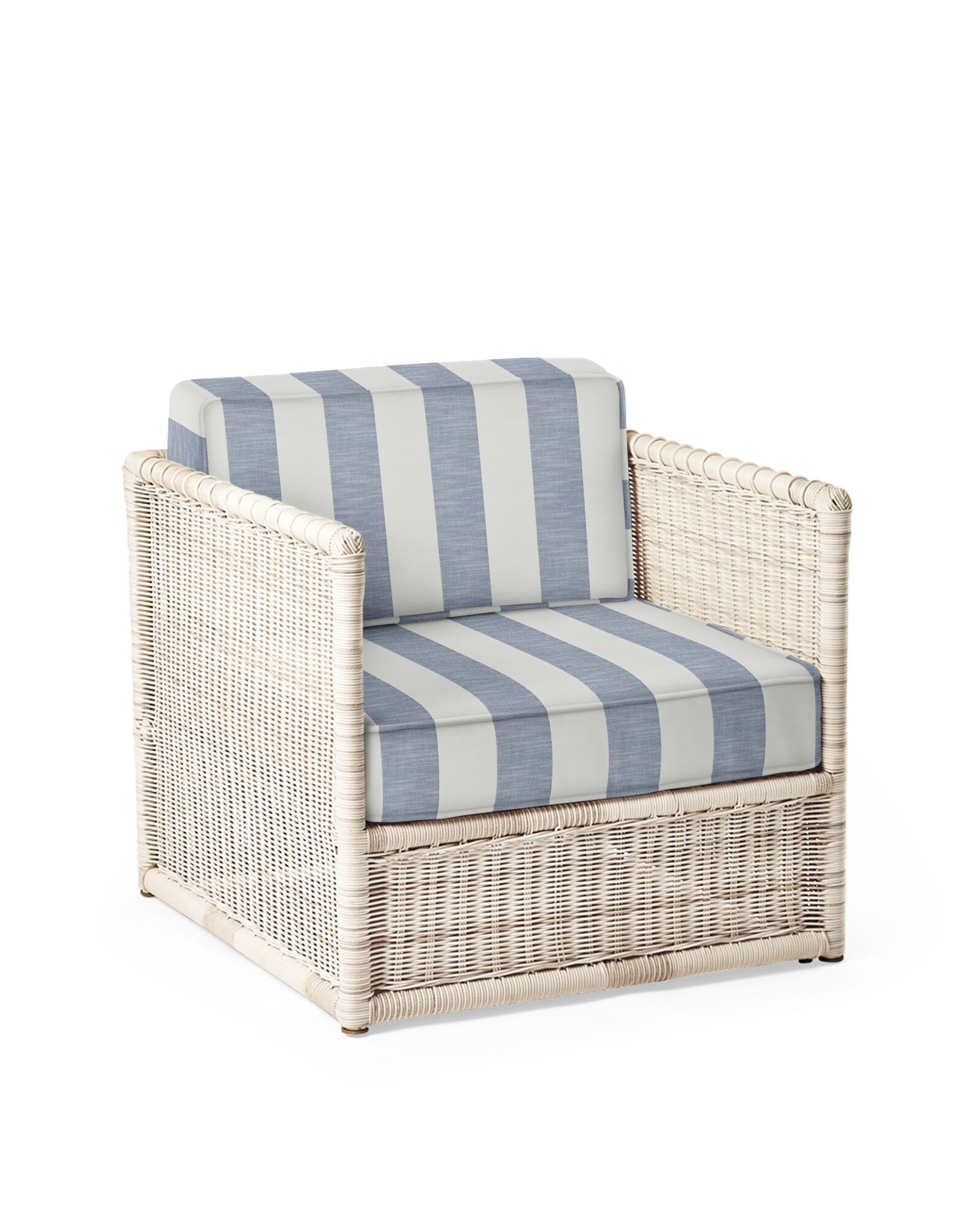 Cushion Cover for Pacifica Lounge Chair, Beach Stripe Navy