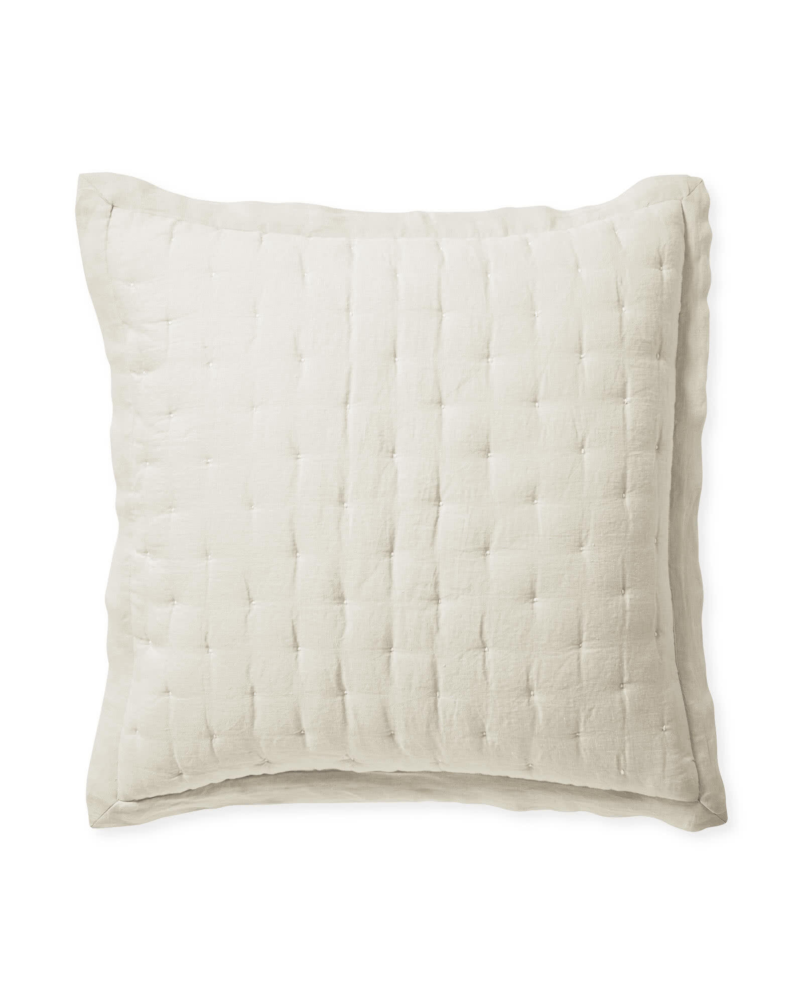 Sutter Quilted Shams, Flax