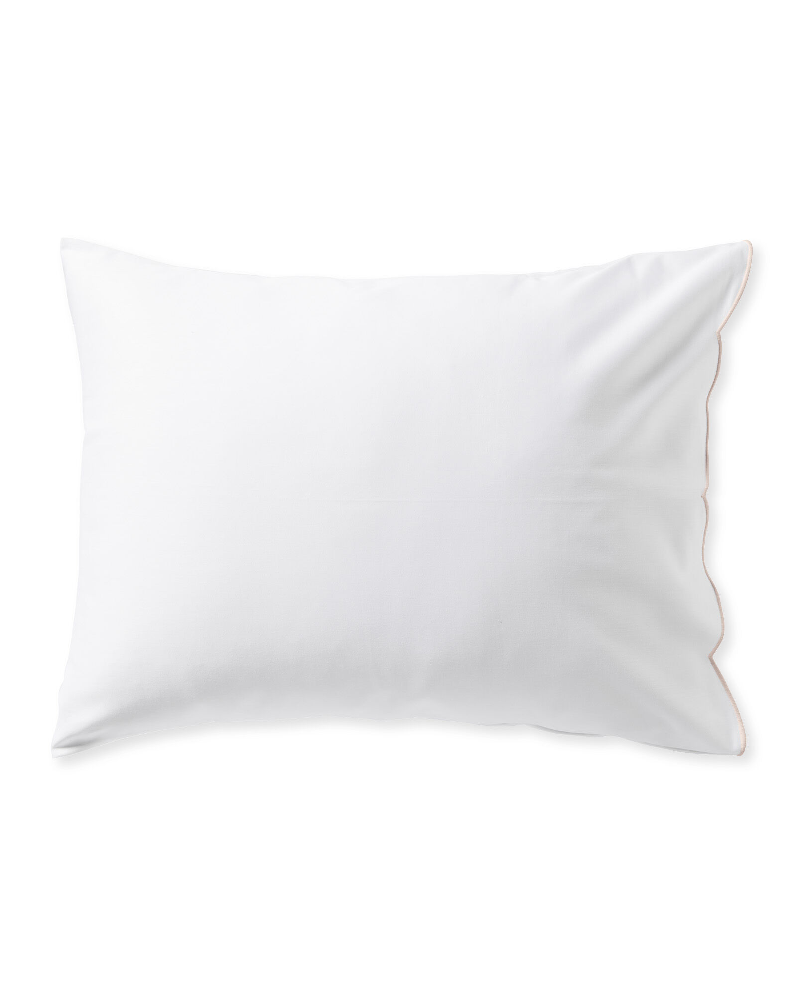 Scallop Pillowcases (Set of 2), Pink Sand