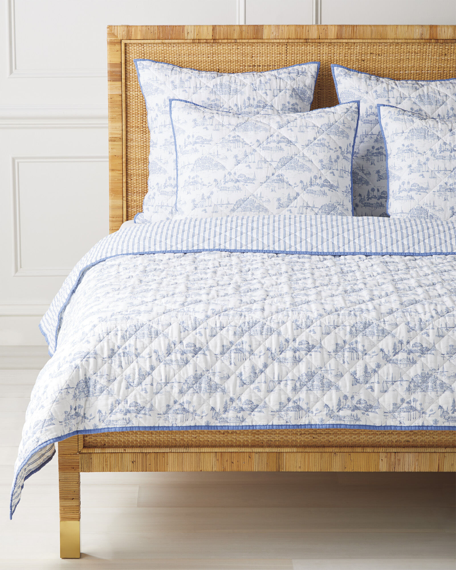 Seahaven Quilt, French Blue