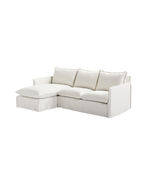 Sundial Outdoor Slipcovered Chaise Sectional - Left-Facing,
