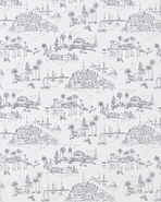 Seahaven Toile Wallpaper Swatch, Black/White