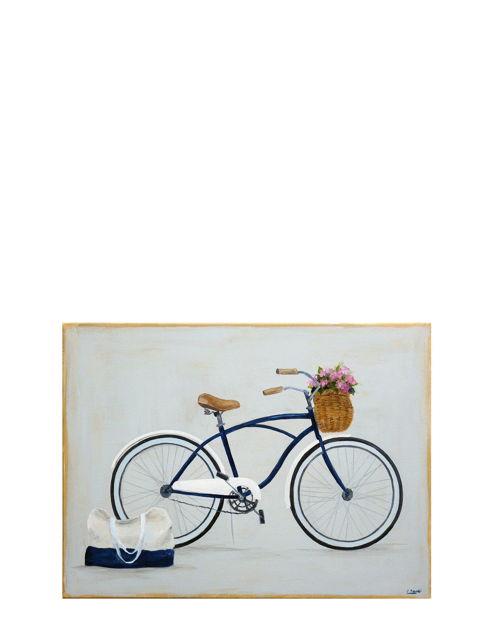 """""""Bike with Flowers and Tote"""" by Carol Saxe,"""