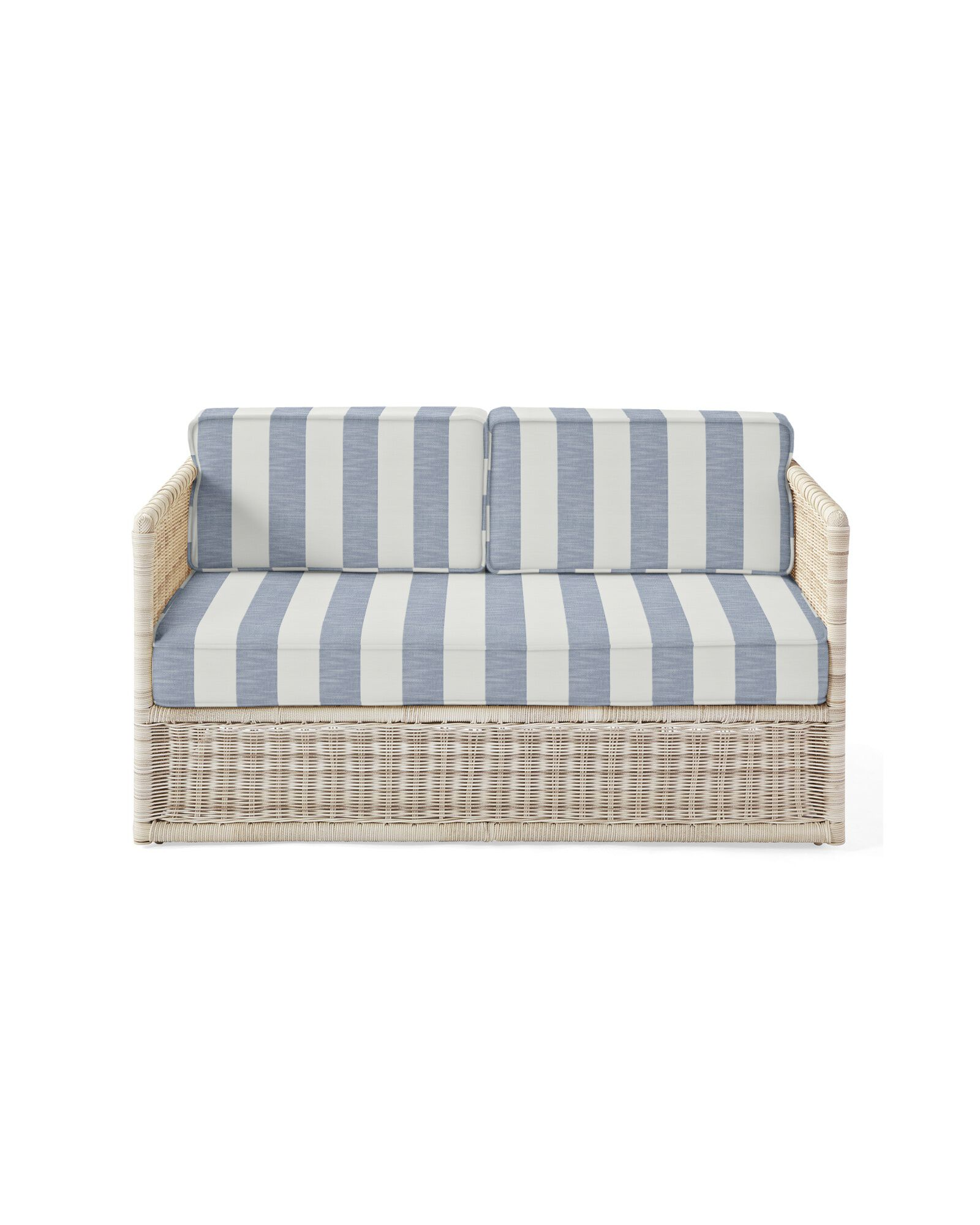 Cushion Cover for Pacifica Loveseat, Beach Stripe Navy