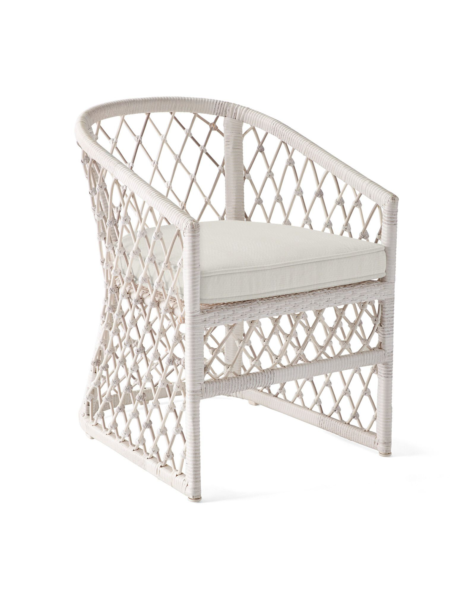 Cushion Cover for Capistrano Dining Chair, Perennials Basketweave Chalk
