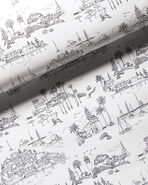 Seahaven Toile Wallpaper, Black/White