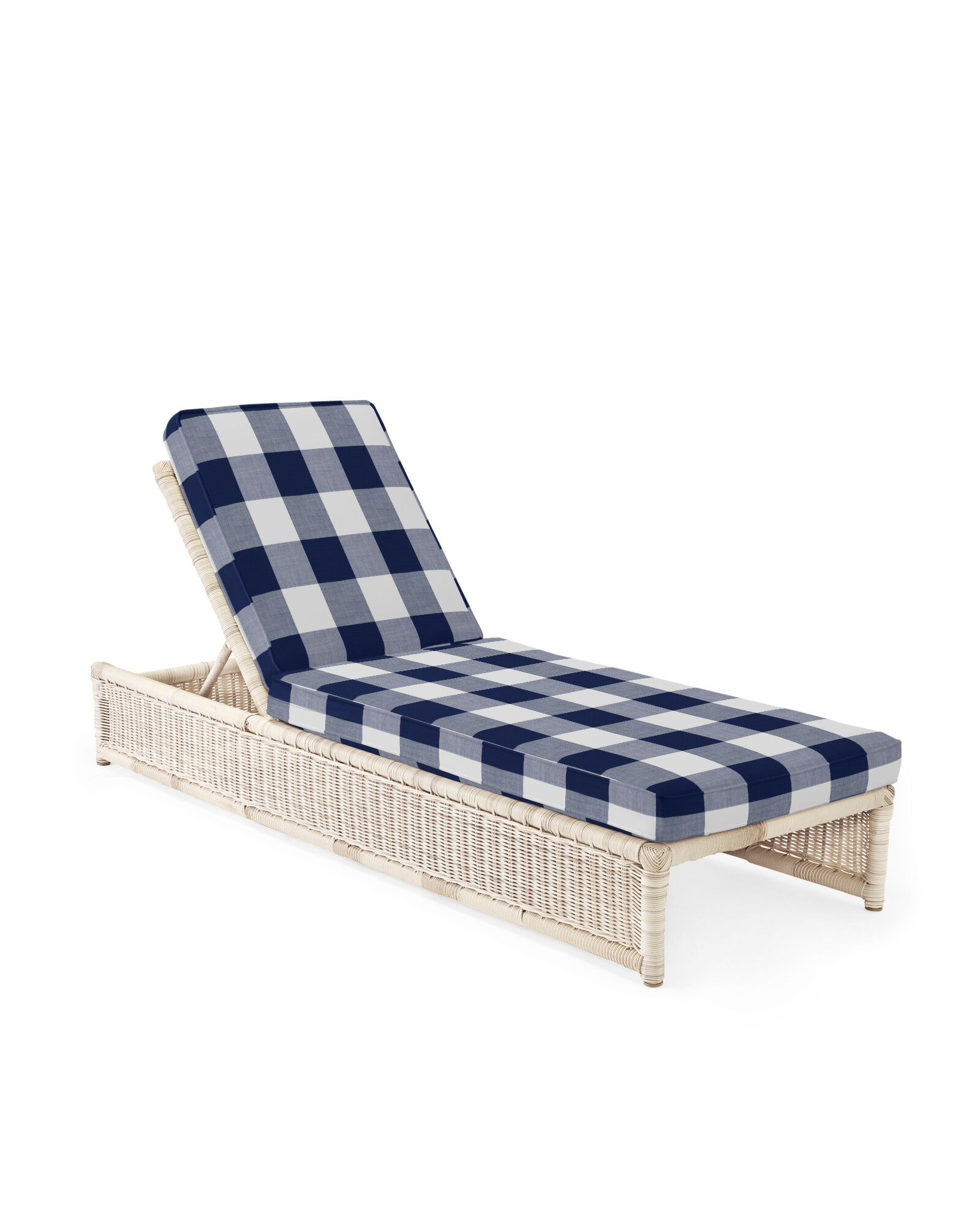 Cushion Cover for Pacifica Chaise, Perennials Gingham Navy