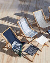 Teak Sling Chair, Sunbrella Navy