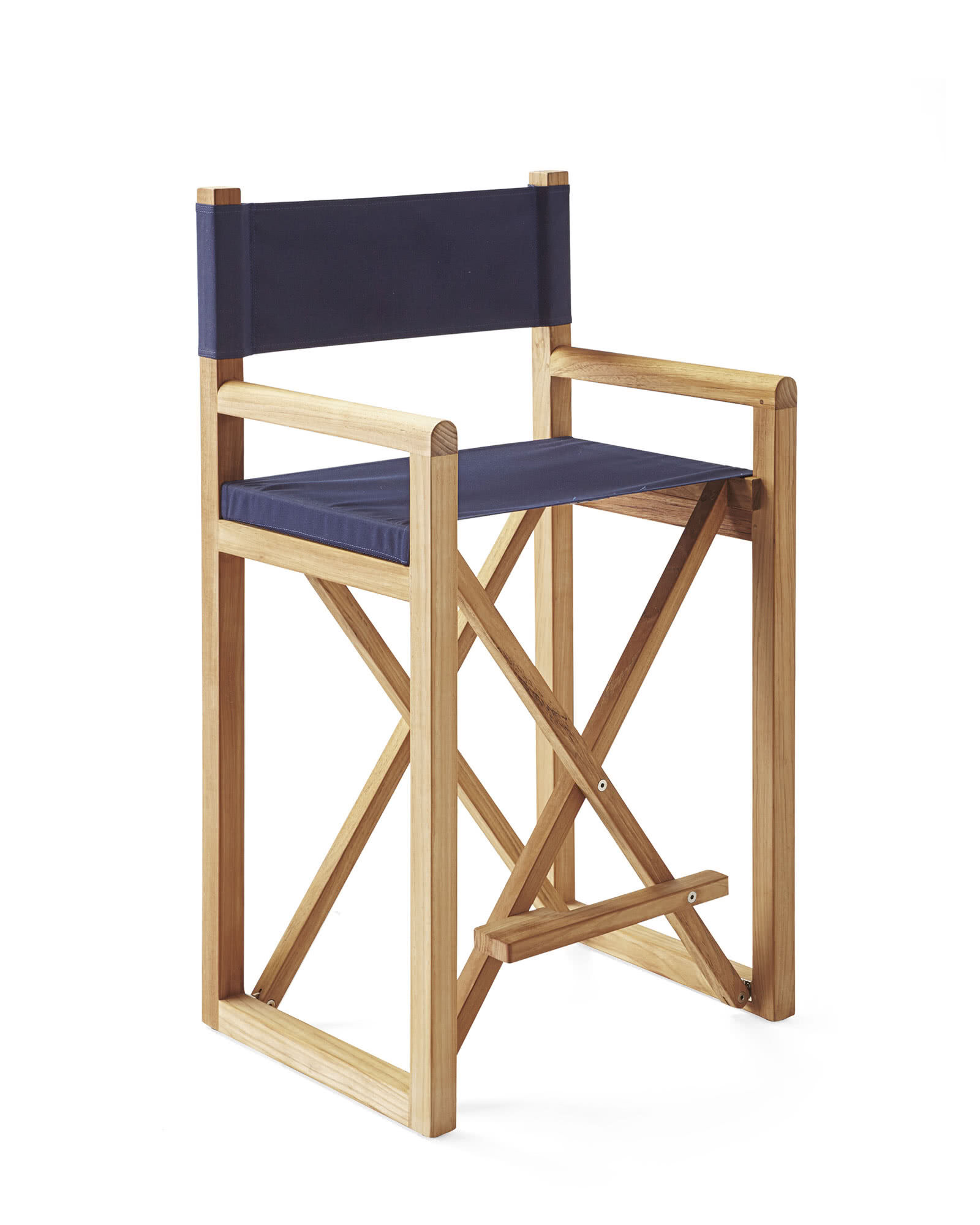Director's Counter Stool, Navy Canvas