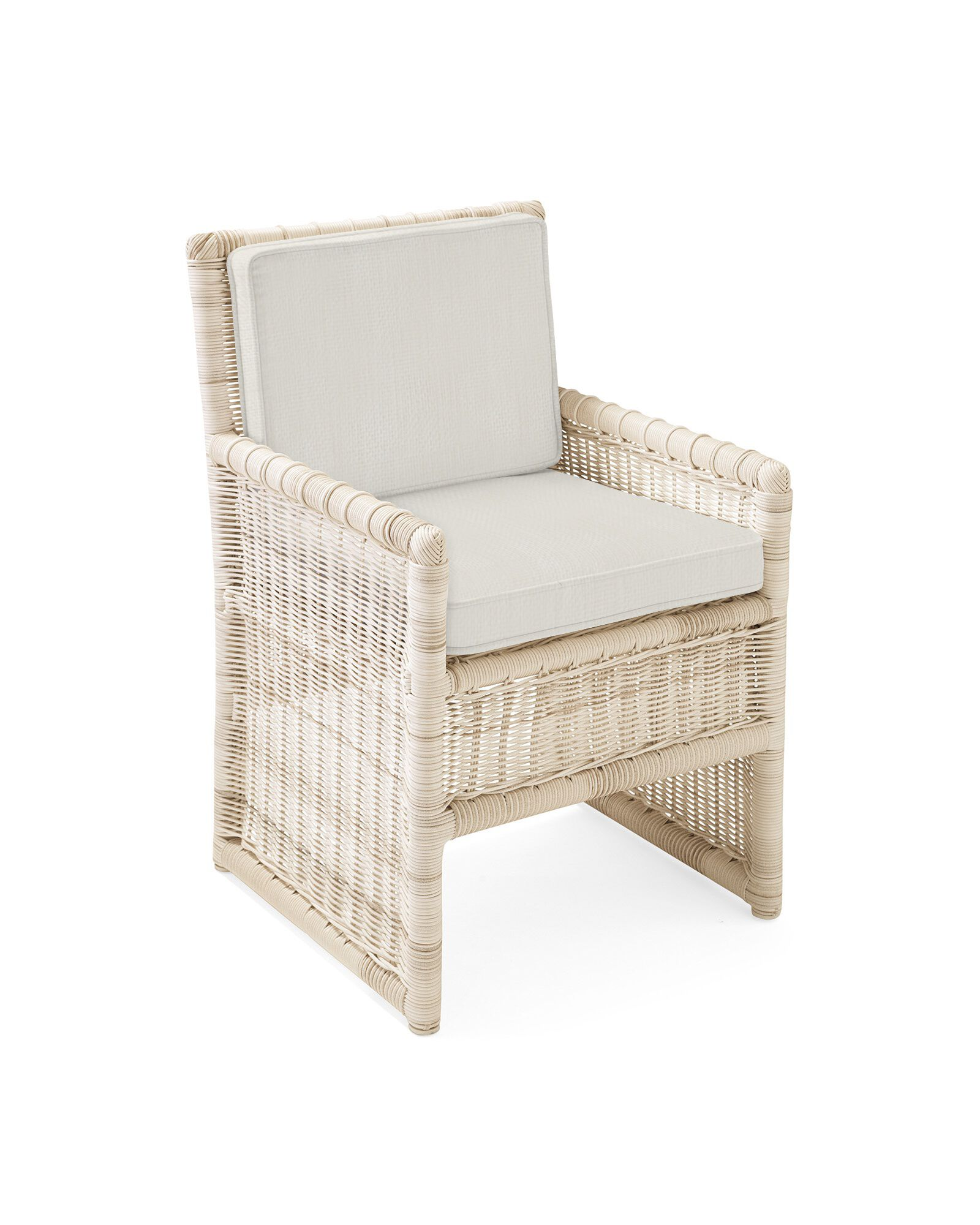Cushion Cover for Pacifica Dining Chair, Perennials Basketweave Chalk
