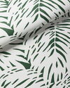 Palm Wallpaper, White/Green